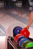 Bowlingspielkugeln Lizenzfreie Stockfotos
