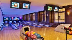 Bowlingspiellinie Lizenzfreie Stockfotos