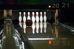 Bowlingspiellinie Stockbild