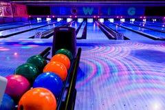 Bowlingspielmitte Stockfotografie