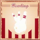 Bowlingspielplakat Lizenzfreie Stockfotografie