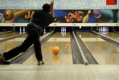 Bowlingspielserie 02 Stockbild