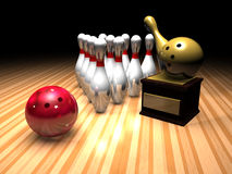Bowlingspielsieger Lizenzfreies Stockfoto