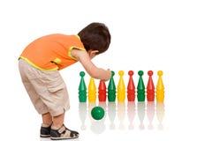 Bowlingspielspiel Stockbild