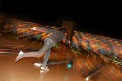 Bowlingspielspieler Stockbild