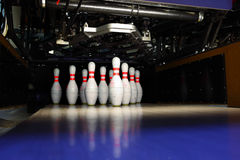 Bowlingspielstifte Stockfotos