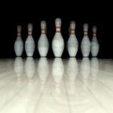 Bowlingspielstifte Stockfoto