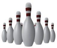 Bowlingspielstifte des Vektor 10. Lizenzfreies Stockfoto