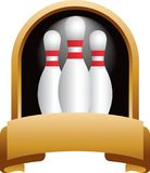 Bowlingspielstifttrophäe Stockfotografie