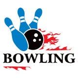 Bowlingspielsymbol Lizenzfreies Stockbild