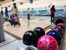 Bowlingspieltreffpunkt Stockbilder