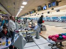 Bowlingspieltreffpunkt Lizenzfreie Stockfotos
