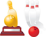 Bowlingspieltrophäe Stockbilder