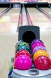 Bowlingspielweg stockfoto