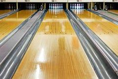Bowlingspielweg Stockfotografie