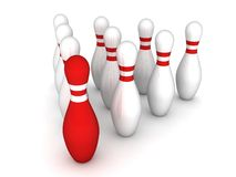bowlingstift Arkivbild
