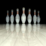 bowlingstift arkivfoto