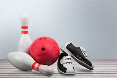 bowlingstift tio arkivfoton