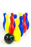 bowlingstift tio Arkivbild