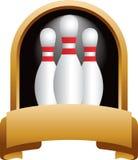 bowlingstifttrofé Arkivbild