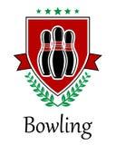 Bowlingsymbol för sportslig deseign Royaltyfria Bilder