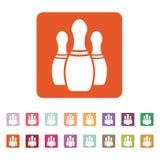 Bowlingsymbolen modigt model symbol för överdängare 3d plant vektor illustrationer