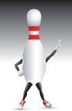 bowlingteckenstiftet poserar att slå Royaltyfri Foto