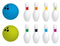 bowlingutrustningar vektor illustrationer