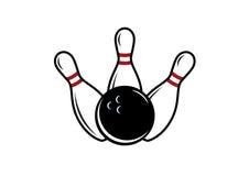 Bowlingvektor Royaltyfria Bilder