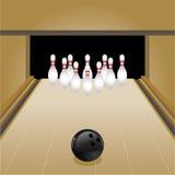bowlingvektor royaltyfri illustrationer