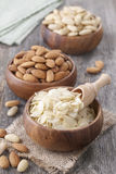 Bowls with almonds Royalty Free Stock Image