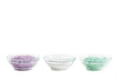 Bowls of Bath Salts Royalty Free Stock Photo