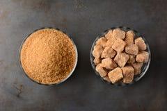 Bowls of Brown Sugar Royalty Free Stock Photography