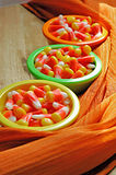 Bowls of candy corn Stock Photography