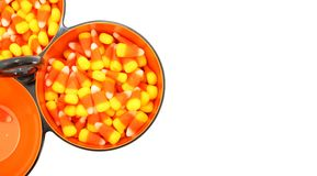 Bowls of Candy Corn Stock Photos