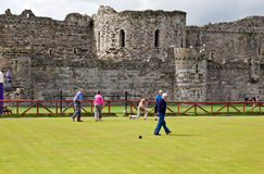 Bowls and Castle Stock Photography