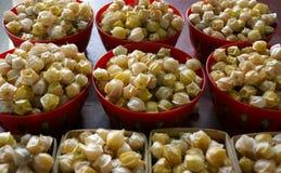 Bowls of cerises de terre at Jean Talon Market, Montreal Stock Photography