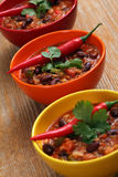 Bowls of chili Royalty Free Stock Photo
