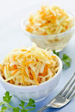 Bowls of coleslaw Stock Photography
