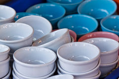 Bowls for food Stock Photography