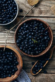 Bowls with forest blueberry Stock Image
