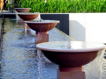 Bowls fountains Royalty Free Stock Photo