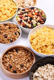 Bowls full of cereal food Stock Photos