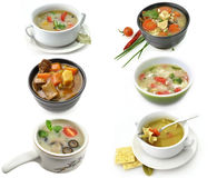 Bowls Of Healthy Soup Royalty Free Stock Image