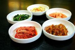 Bowls of kimchi Stock Images