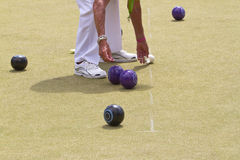 Bowls or lawn bowls Stock Photo