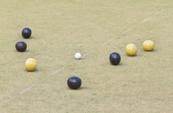 Bowls or lawn bowls Royalty Free Stock Photo