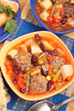 Bowls of Meatball soup with vegetables Stock Photo