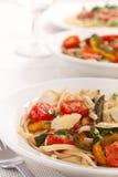 Bowls of Mediterranean pasta Stock Image