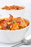 Bowls of Minestrone Soup Royalty Free Stock Photos